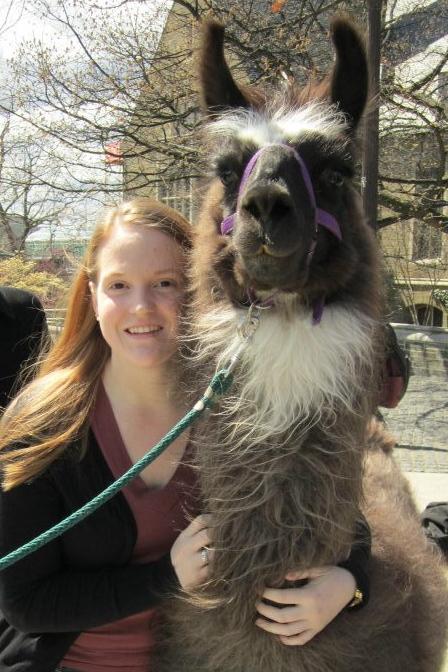 Jessica with Llama